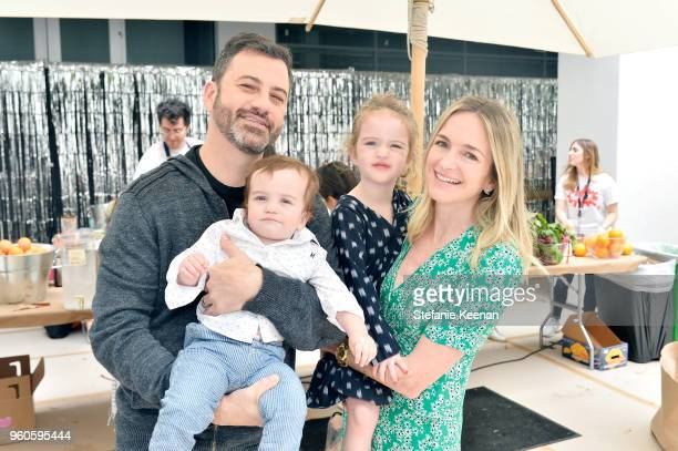 Jimmy Kimmel Billy Kimmel Jane Kimmel and Molly McNearney attend Hammer Museum KAMP 2018 at Hammer Museum on May 20 2018 in Los Angeles California