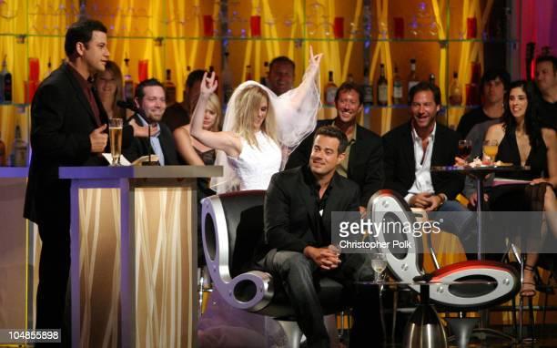 Jimmy Kimmel Carson Daly and actress a portraying Tara Reid