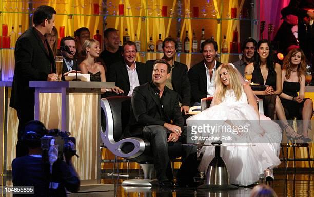 Jimmy Kimmel Carson Daly and an actress portraying Tara Reid