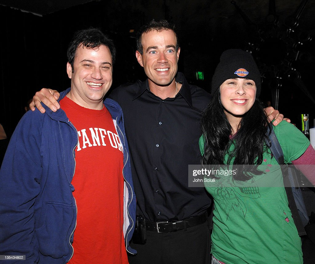 Jimmy Kimmel, Carson Daly and Sarah Silverman during 'Last Call with Carson Daly' 5 Year Anniversary Party at Social Hollywood, Level 2 in Hollywood, California, United States.