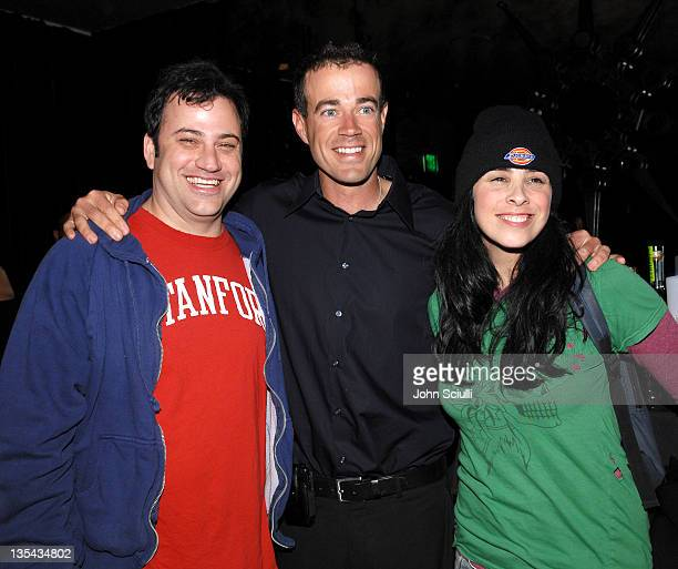 Jimmy Kimmel Carson Daly and Sarah Silverman during 'Last Call with Carson Daly' 5 Year Anniversary Party at Social Hollywood Level 2 in Hollywood...