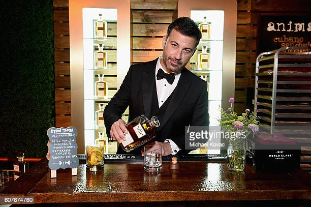 Jimmy Kimmel enjoys The Hilhaven Lodge Whiskey at his postshow party at The Lot on September 18 2016 in West Hollywood California