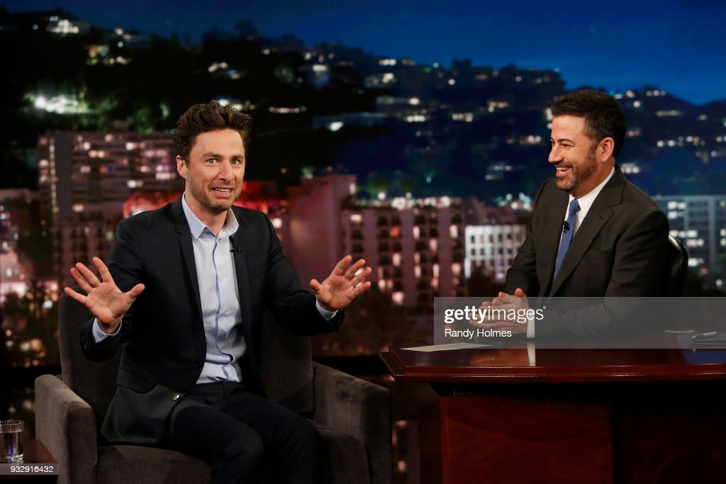 LIVE! - 'Jimmy Kimmel Live!' airs every weeknight at 11:35 p.m. EDT and features a diverse lineup of guests that include celebrities, athletes, musical acts, comedians and human interest subjects, along with comedy bits and a house band. The guests for Thursday, March 15 included Zach Braff ('Alex, Inc.'), Nick Robinson ('Love, Simon'), and musical guest Børns. ZACH