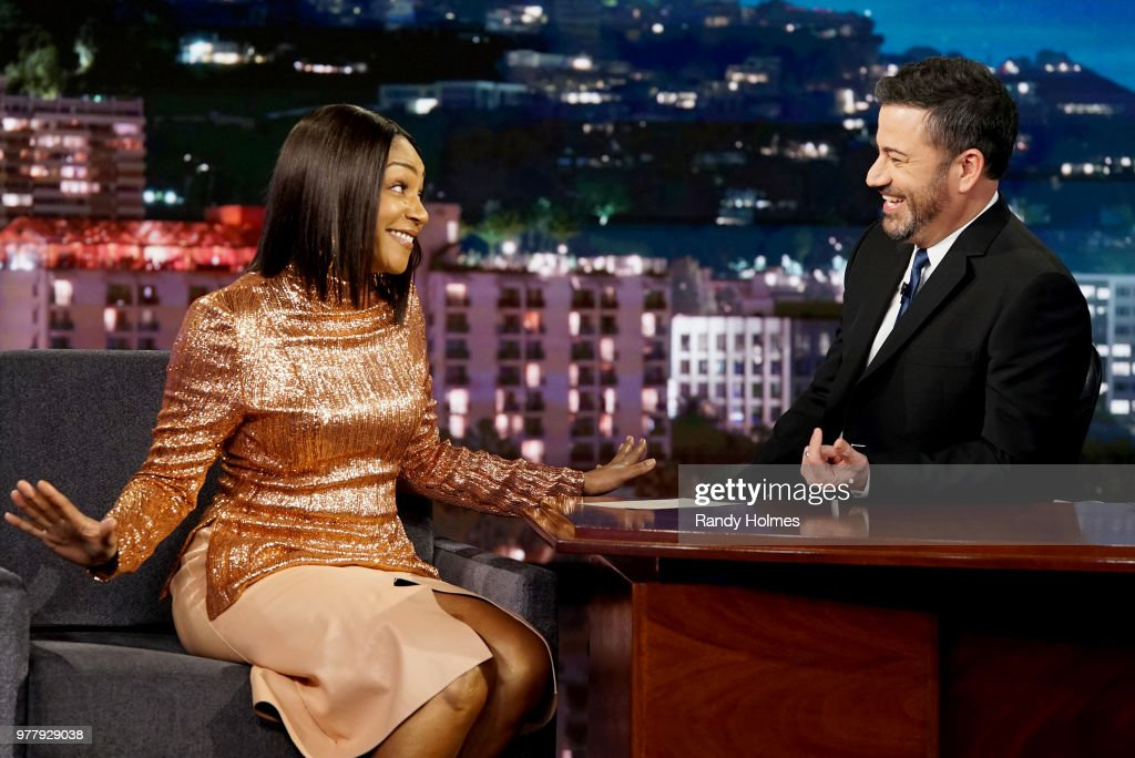 LIVE! - 'Jimmy Kimmel Live!' airs every weeknight at 11:35 p.m. EDT and features a diverse lineup of guests that include celebrities, athletes, musical acts, comedians and human interest subjects, along with comedy bits and a house band. The guests for Friday, June 15 included Tiffany Haddish ('MTV Movie and TV Awards'), DJ Khaled ('The Four: Battle for Stardom'), and musical guest Ella Mai. TIFFANY