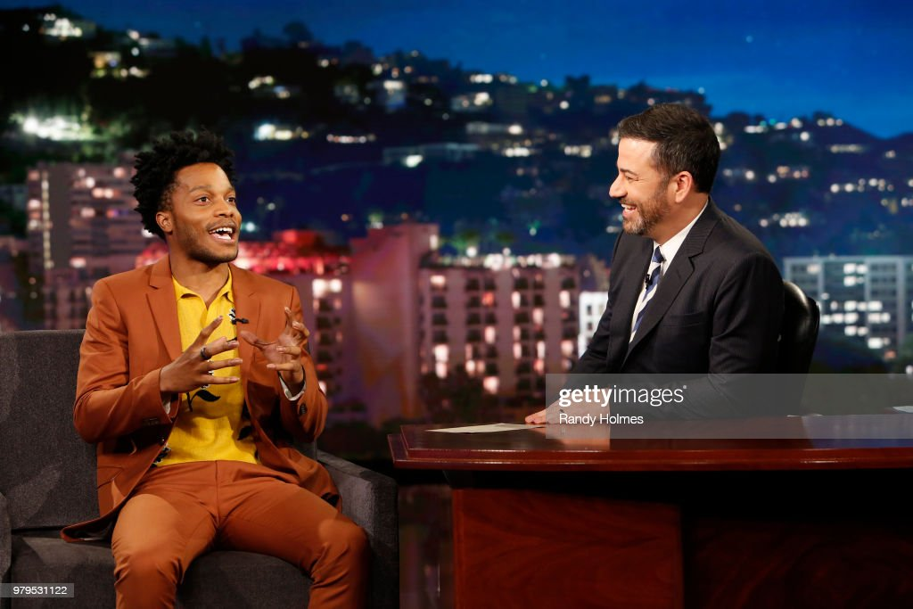 LIVE! - 'Jimmy Kimmel Live!' airs every weeknight at 11:35 p.m. EDT and features a diverse lineup of guests that include celebrities, athletes, musical acts, comedians and human interest subjects, along with comedy bits and a house band. The guests for Monday, June 18 included Jeff Goldblum ('Jurassic World: Fallen Kingdom'), Jermaine Fowler ('Sorry to Bother You'), and musical guest Granger Smith. JERMAINE