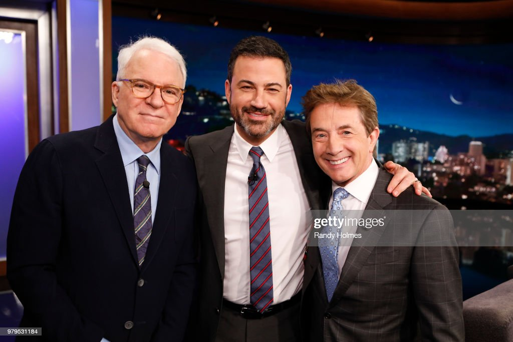 LIVE! - 'Jimmy Kimmel Live!' airs every weeknight at 11:35 p.m. EDT and features a diverse lineup of guests that include celebrities, athletes, musical acts, comedians and human interest subjects, along with comedy bits and a house band. The guests for Tuesday, June 19 included Steve Martin and Martin Short ('An Evening You Will Forget for the Rest of Your Life'), and musical guest The Record Company. STEVE