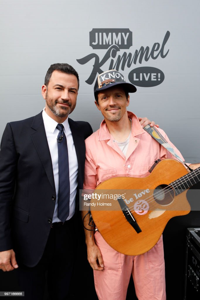 LIVE! - 'Jimmy Kimmel Live!' airs every weeknight at 11:35 p.m. EDT and features a diverse lineup of guests that include celebrities, athletes, musical acts, comedians and human interest subjects, along with comedy bits and a house band. The guests for Wednesday, July 11 included Dax Shepard ('Armchair Expert'), Kathryn Hahn ('Hotel Transylvania 3: Summer Vacation'), and musical guest Jason Mraz. (