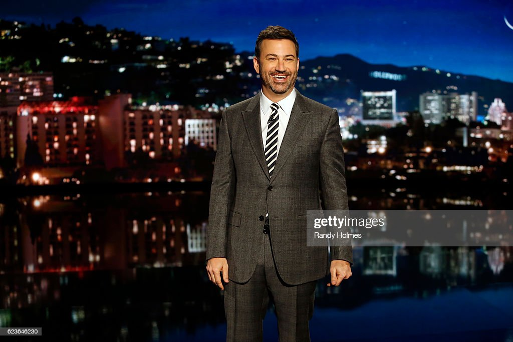 LIVE - 'Jimmy Kimmel Live' airs every weeknight at 11:35 p.m. EST and features a diverse lineup of guests that include celebrities, athletes, musical acts, comedians and human interest subjects, along with comedy bits and a house band. The guests for Tuesday, November 15 included Casey Affleck ('Manchester by the Sea'), Laurie Hernandez (ABC's 'Dancing With The Stars') and Garth Brooks sitting in with the house band, Cleto and the Cletones. JIMMY