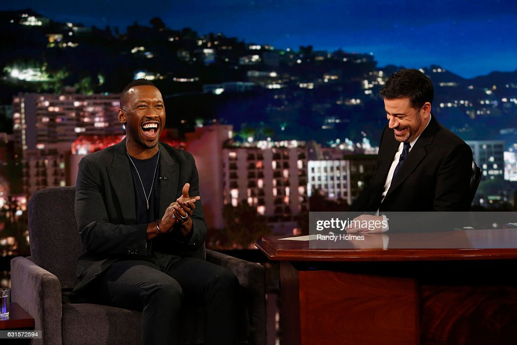 LIVE - 'Jimmy Kimmel Live' airs every weeknight at 11:35 p.m. EST and features a diverse lineup of guests that includes celebrities, athletes, musical acts, comedians and human-interest subjects, along with comedy bits and a house band. The guests for Wednesday, January 11 included Jessica Biel ('The Book of Love'), Mahershala Ali ('Moonlight') and musical guest SOHN. MAHERSHALA