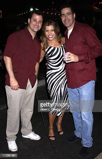 Jimmy Kimmel Mindy Burbano Adam Carolla during The Feast of San Gennaro Presented by Precious Cheese Day 1 at Hollywood Ivar Lot in Hollywood...
