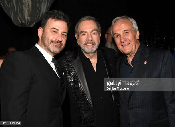 Jimmy Kimmel Neil Diamond and Larry Ruvo attend the 24th annual Keep Memory Alive 'Power of Love Gala' benefit for the Cleveland Clinic Lou Ruvo...