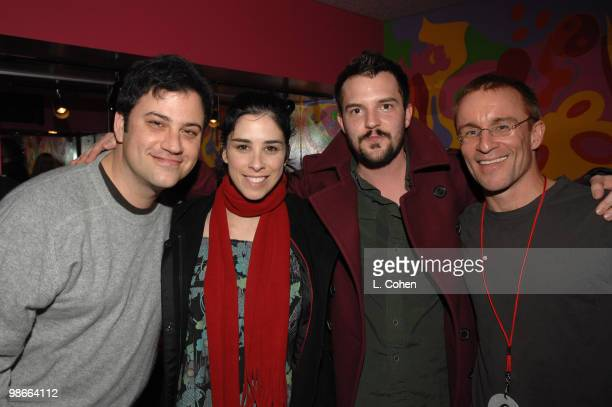Jimmy Kimmel Sarah Silverman Brandon Flowers of The Killers and Kevin Weatherly from KROQ