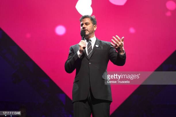 Jimmy Kimmel speaks at the 24th annual Keep Memory Alive 'Power of Love Gala' benefit for the Cleveland Clinic Lou Ruvo Center for Brain Health at...