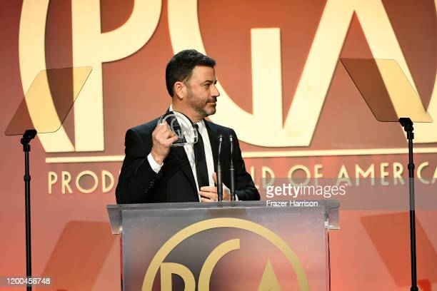 Jimmy Kimmel speaks onstage during the 31st Annual Producers Guild Awards at Hollywood Palladium on January 18, 2020 in Los Angeles, California.