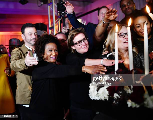 Jimmy Kimmel Wanda Sykes and Page Hurwitz attend Tiffany Haddish Black Mitzvah at SLS Hotel on December 03 2019 in Beverly Hills California