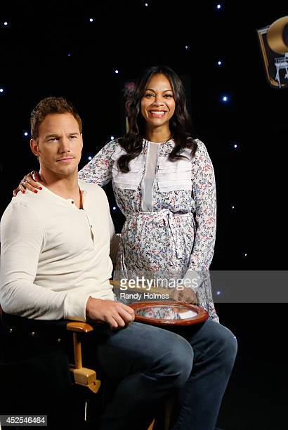 """Jimmy Kimmel welcomes Chris Pratt, Zoe Saldana, Dave Bautista, Vin Diesel and Bradley Cooper to a special """"Guardians of the Galaxy"""" episode of """"Jimmy..."""