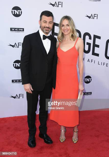 Jimmy Kimmell and Molly McNearney attend the American Film Institute's 46th Life Achievement Award Gala Tribute to George Clooney at Dolby Theatre on...