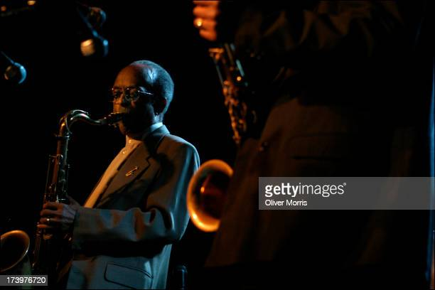 Jimmy 'Little Bird' Heath saxophone performing at the Blue Note jazz club in a tribute to Coleman Hawkins Greenwich Village New York September 28 2004