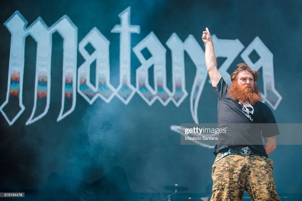 Jimmy London of Matanza performs live on stage at Autodromo de Interlagos on March 12, 2016 in Sao Paulo, Brazil.