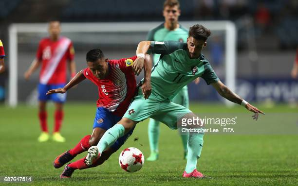 Jimmy Marin of Costa Rica battles with Helder of Portugal during the FIFA U-20 World Cup Korea Republic 2017 group C match between Costa Rica and...