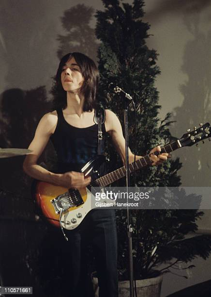 Jimmy McCulloch from Thunderclap Newman performs live on stage at Kasteel Groeneveld in Baarn Netherlands in 1971 He plays a Mosrite guitar
