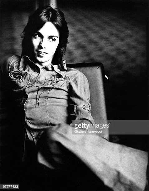 Jimmy McCulloch guitarist with Wings posed in Amsterdam in 1976