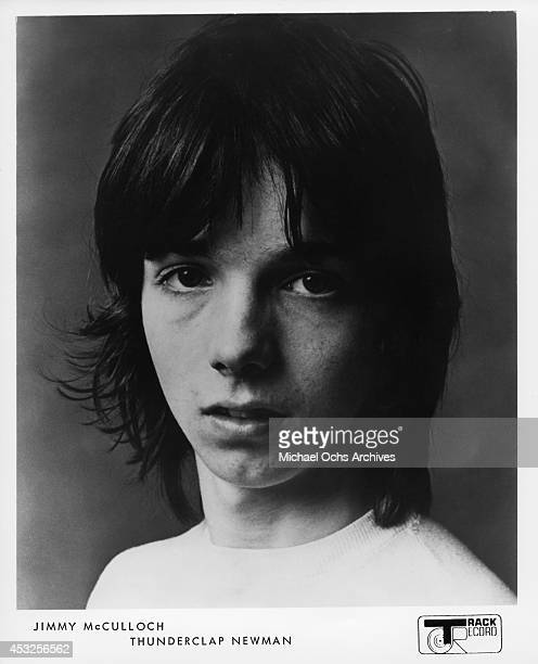 Jimmy McCulloch of the English rock group Thunderclap Newman poses for a Track Record publicity still in 1969
