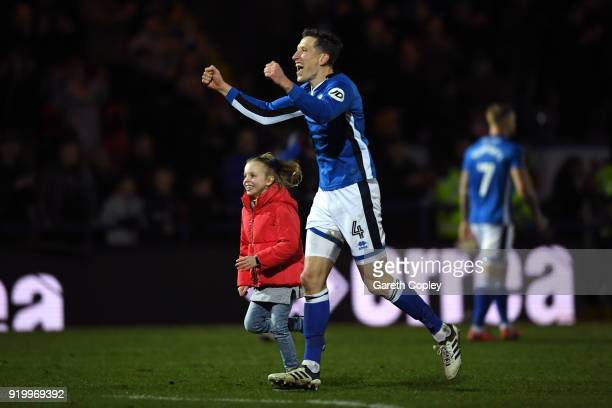 Jimmy McNulty of Rochdale AFC celebrates after during The Emirates FA Cup Fifth Round match between Rochdale and Tottenham Hotspur on February 18...