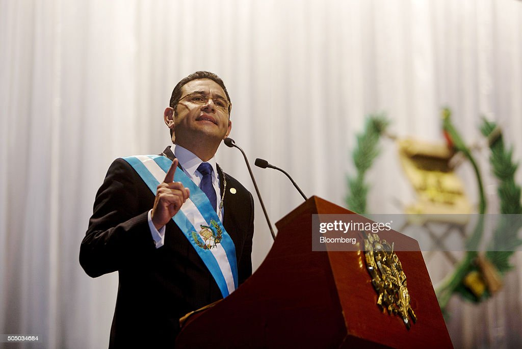 Former Comedian Jimmy Morales Sworn In As President Of Guatemala
