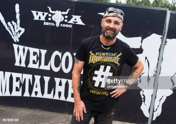 Jimmy Mueller at the Wacken Open Air festival in Wacken Germany 3 August 2017 The Wacken Open Air festival opens on the 3 August and runs through to...