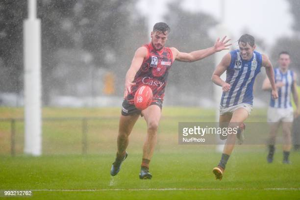 Jimmy Munro of the Casey Demons in action during the VFL round 14 game between the Casey Demons and North Melbourne at Casey Fields in Melbourne...