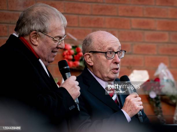 Jimmy Murphy Jnr of Manchester United attends a ceremony to mark the 62nd anniversary of the Munich Air Disaster at Old Trafford on February 06 2020...