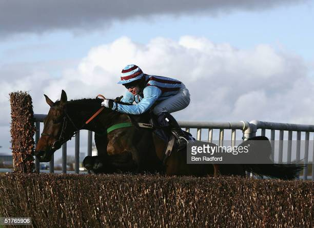 Jimmy Murphy rides Best Mate to victory during the The William Hill Steeple Chase on November 19, 2004 at Exeter Racecourse in Exeter, England.