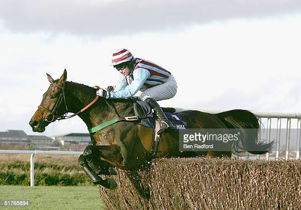 Jimmy Murphy riding Best Mate to victory, during The William Hill Steeple Chase on November 19, 2004 at Exeter Racecourse in Exeter, England.