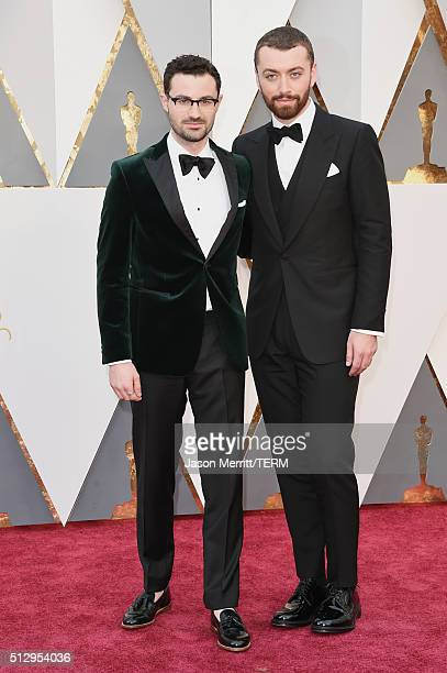 Jimmy Napes and recording artist Sam Smith attends the 88th Annual Academy Awards at Hollywood Highland Center on February 28 2016 in Hollywood...