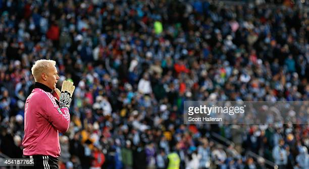 Jimmy Nielsen of Sporting KC waits in goal against of Real Salt Lake in the first half of the 2013 MLS Cup at Sporting Park on December 7 2013 in...