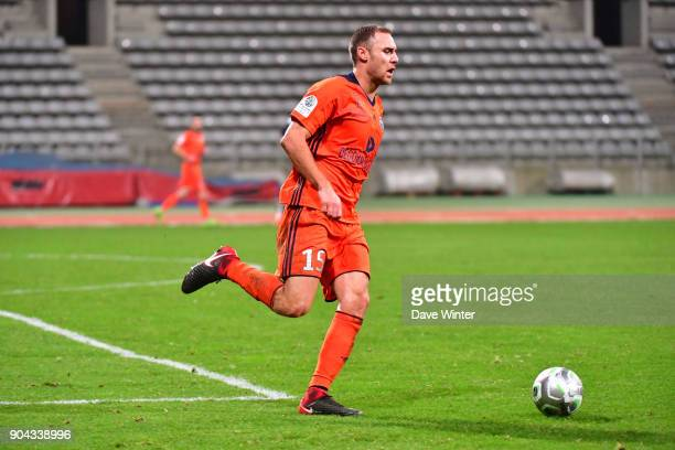 Jimmy Nirlo of FBBP 01 during the Ligue 2 match between Paris FC and Bourg en Bresse at Stade Charlety on January 12 2018 in Paris France