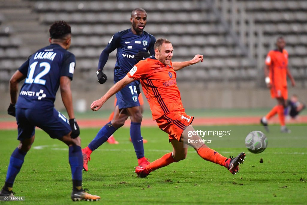 Jimmy Nirlo of FBBP 01 during the Ligue 2 match between Paris FC and Bourg en Bresse (FBBP 01) at Stade Charlety on January 12, 2018 in Paris, France.