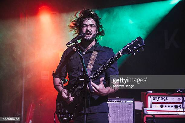 Jimmy O of The Graveltones performs on stage at Scala on September 16 2015 in London England