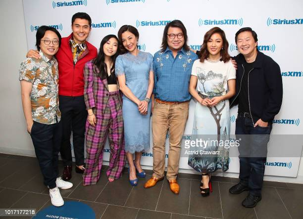 Jimmy O Yang Henry Golding Awkwafina Michelle Yeoh Kevin Kwan Constance Wu and Ken Jeong attend SiriusXM's Entertainment Weekly Radio Spotlight With...