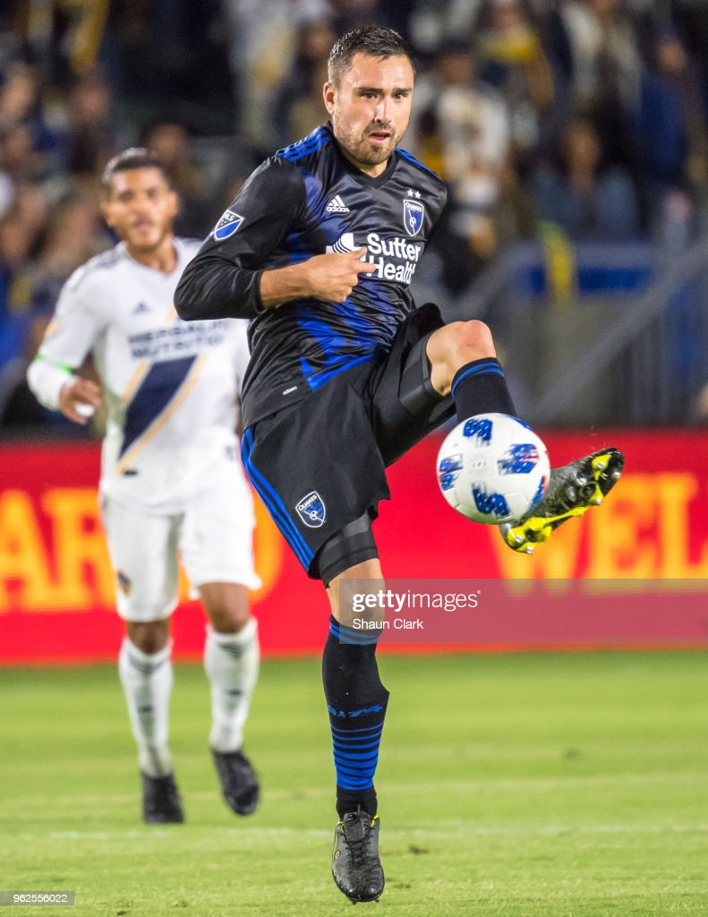 Jimmy Ockford #15 of San Jose Earthquakes during the Los Angeles Galaxy's MLS match against San Jose Earthquakes at the StubHub Center on May 25, 2018 in Carson, California. The Los Angeles Galaxy won the match 1-0