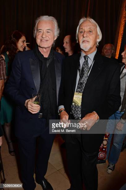 Jimmy Page and Richard Cole attend the launch of Led Zeppelin by Led Zeppelin the official illustrated book marking the 50th anniversary of their...