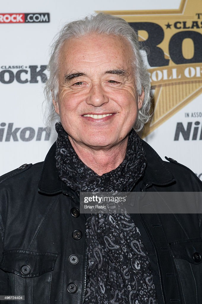 Jimmy Page attends the Classic Rock Roll of Honour at The Roundhouse on November 11, 2015 in London, England.