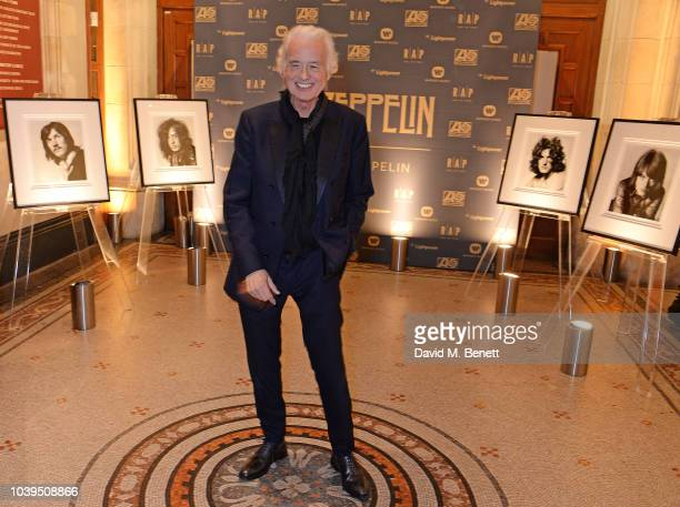 Jimmy Page attends the launch of 'Led Zeppelin' by Led Zeppelin the official illustrated book marking the 50th anniversary of their formation at The...