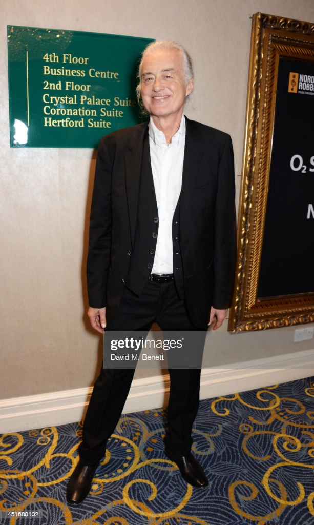 Jimmy Page attends the Nordoff Robbins 02 Silver Clef awards at the London Hilton on July 4, 2014 in London, England.