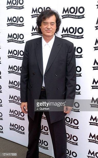 Jimmy Page during Mojo Honours List Awards 2004 Arrivals at Banqueting Hall in London Great Britain