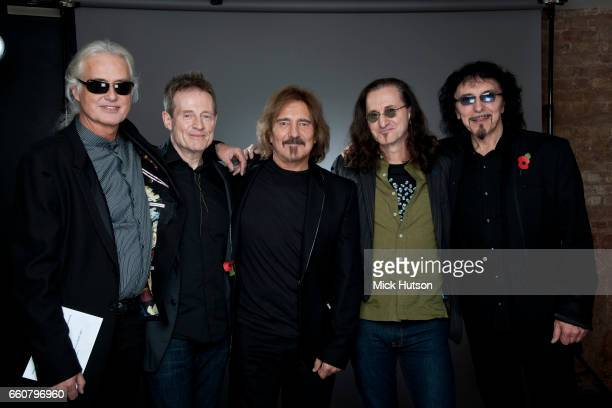 Jimmy Page John Paul Jones Geezer Butler Geddy Lee and Tony Iommi London 10th November 2010