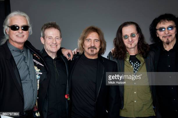 Jimmy Page John Paul Jones Geezer Butler Geddy Lee and Tony Iommi London 10th November 2010