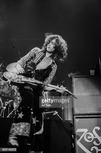 Jimmy Page of Led Zeppelin in performance circa 1970 New York