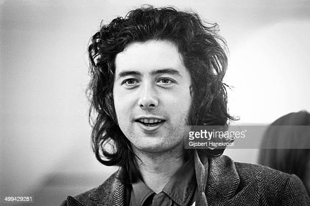 Jimmy Page of Led Zeppelin posed at Schipol airport Amsterdam Netherlands on May 27 1972